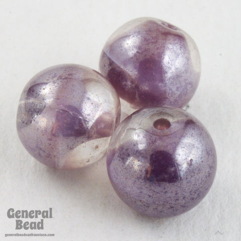 10mm Amethyst Cloud Druk Bead (10 Pcs) #GAG014