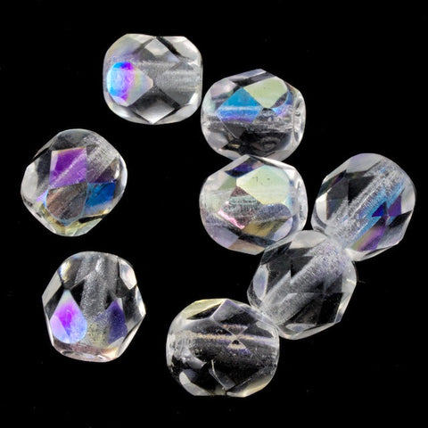 6mm Transparent Crystal AB Fire Polished Bead-General Bead