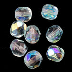 6mm Transparent Light Aqua AB Fire Polished Bead-General Bead