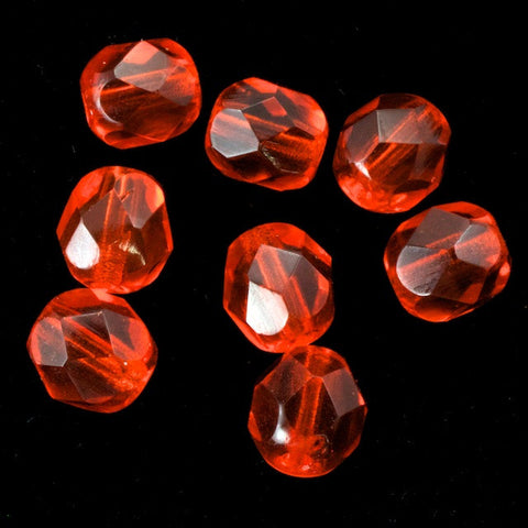 6mm Transparent Hyacinth Fire Polished Bead-General Bead