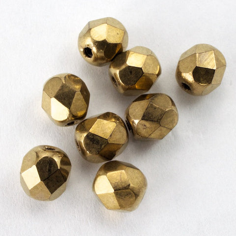 6mm Bronze Fire Polished Bead-General Bead