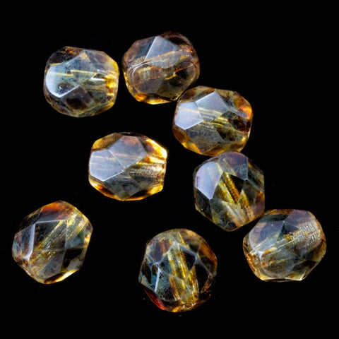 6mm Luster Topaz Fire Polished Bead-General Bead