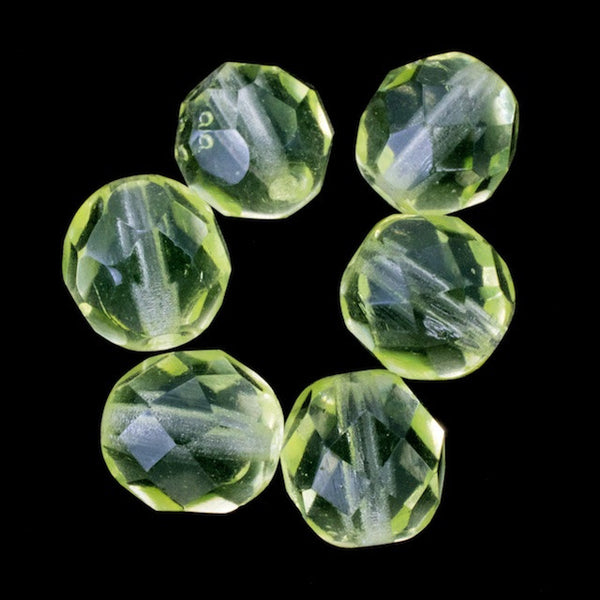 8mm Transparent Jonquil Fire Polished Bead (25 Pcs) #GBF012