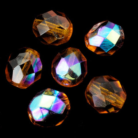 8mm Transparent Topaz AB Fire Polished Bead-General Bead