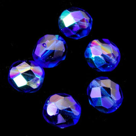 8mm Transparent Sapphire AB Fire Polished Bead-General Bead