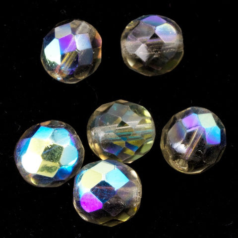 8mm Transparent Black Diamond AB Fire Polished Bead-General Bead