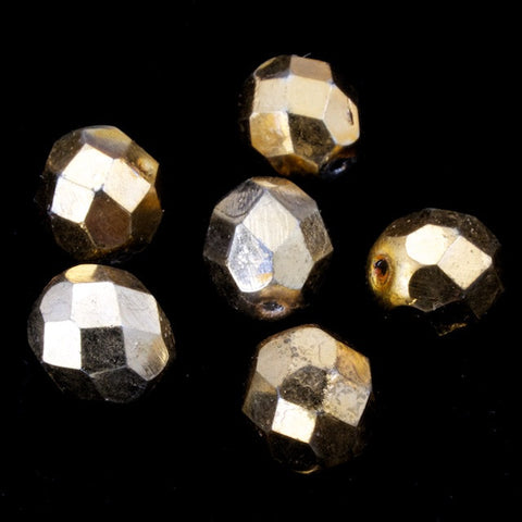 8mm Antique Bronze Fire Polished Bead-General Bead