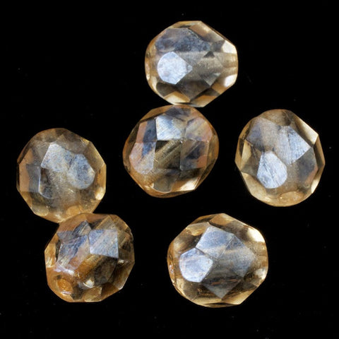 8mm Luster Light Topaz Fire Polished Bead-General Bead