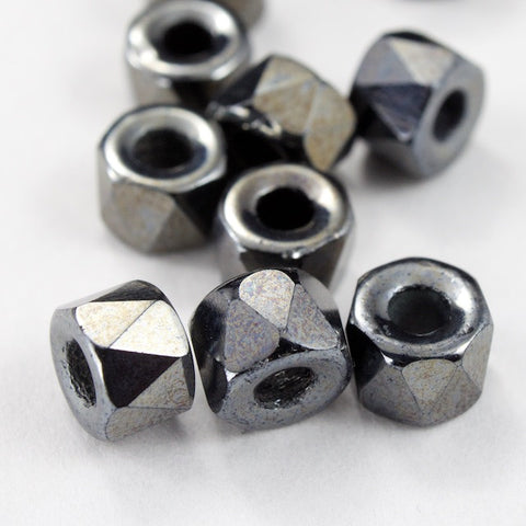 6mm Gunmetal Fire Polished Crow Bead-General Bead