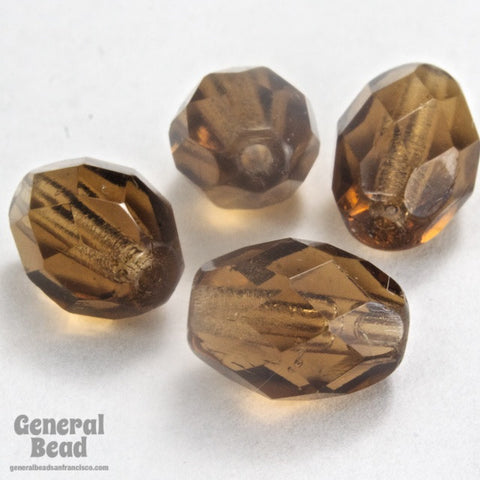 7mm x 9mm Smoked Topaz Faceted Oval Bead-General Bead