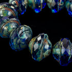 8mm x 10mm Sapphire Picasso Saturn Bead (15 Pcs) #GCZ202-General Bead