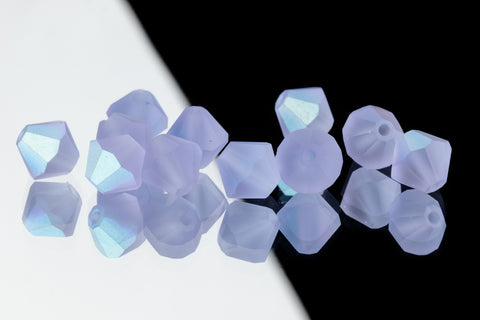 5mm Matte Alexandrite AB Faceted Crystal Bicone #GDQ066