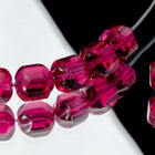 6mm Fuchsia Baroque Cathedral Bead (25 Pcs) #GEQ005