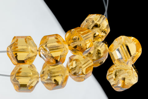 10mm Topaz Baroque Cathedral Bead (25 Pcs) #GEQ201