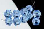 10mm Light Sapphire Baroque Cathedral Bead (25 Pcs) #GEQ202
