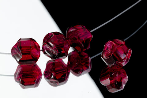 10mm Fuchsia Baroque Cathedral Bead (25 Pcs) #GEQ205