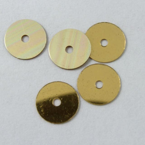 Antique Sequin Deal 1: Gold 6mm Sequin-General Bead