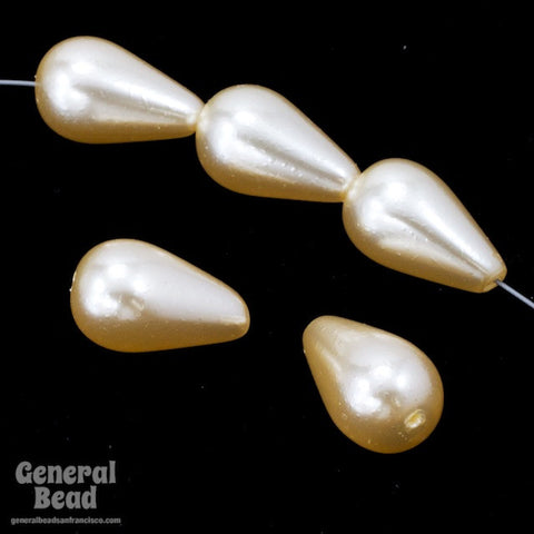 11mm x 18mm Cultura Glass Pearl Teardrop #GPC002-General Bead