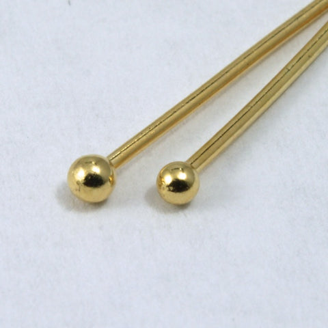 "1.5"" 24 Gauge Gold Filled Head Pin with Ball #BGE014-General Bead"