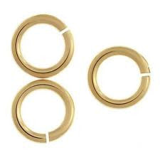 6mm Gold Plated Jumprings (100pcs)