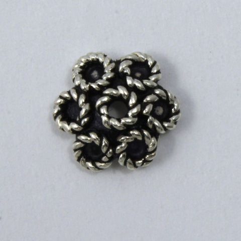 Indian Sterling 10mm Floral Bead Cap-General Bead
