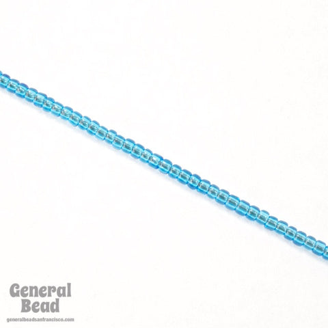 11/0 Transparent Capri Blue Japanese Seed Bead-General Bead