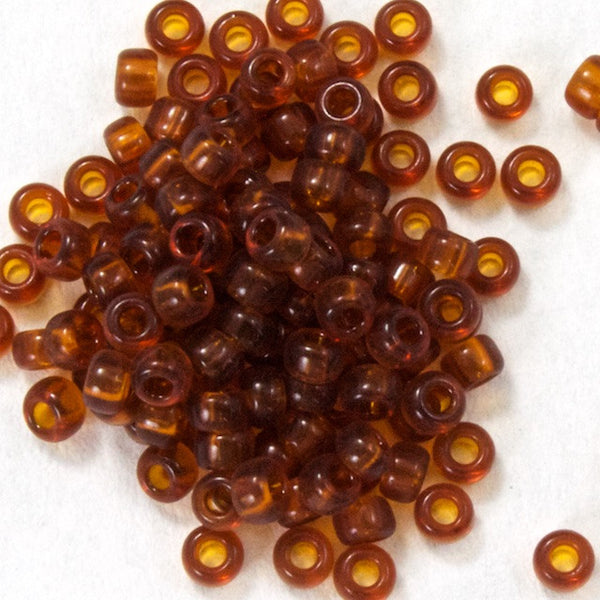 15/0 Transparent Amber Japanese Seed Bead