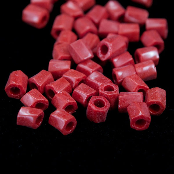 10/0 Red Twist Hex Seed Bead