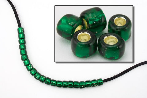 3/0 Silver Lined Dark Green Seed Bead-General Bead