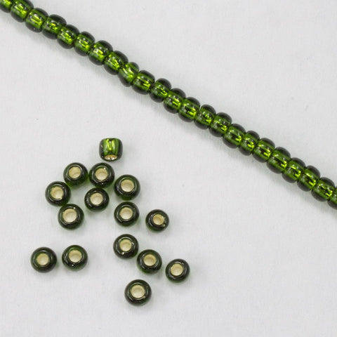 8/0 Silver Lined Olive Seed Bead-General Bead