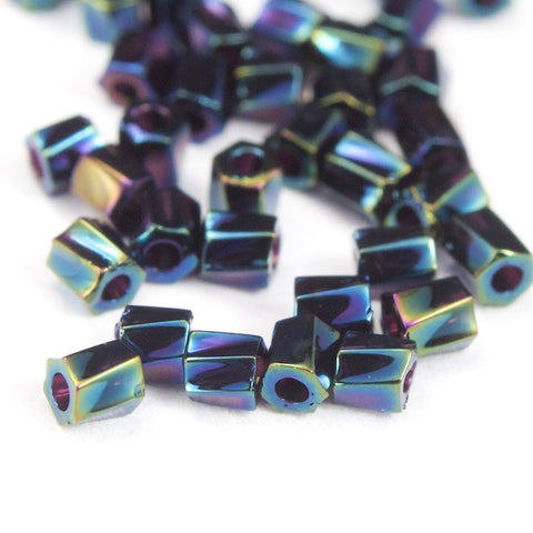 10/0 Metallic Blue Iris Twist Hex Seed Bead (20 Gm) #JFH003