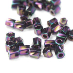 10/0 Metallic Purple Iris Twist Hex Seed Bead (20 Gm) #JFH004-General Bead