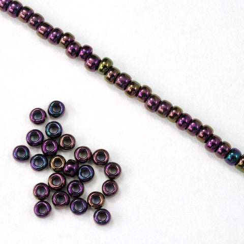 8/0 Metallic Purple Iris Seed Bead-General Bead