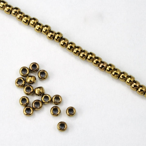 8/0 Metallic Gold Bronze Seed Bead-General Bead