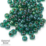 11/0 Tan Lined Emerald AB Japanese Seed Bead-General Bead