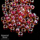 11/0 Cranberry Lined Champagne Japanese Seed Bead-General Bead