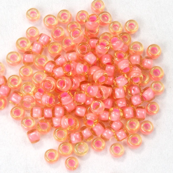 15/0 Lined Salmon Japanese Seed Bead