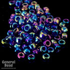 11/0 Transparent Cobalt AB Japanese Seed Bead-General Bead