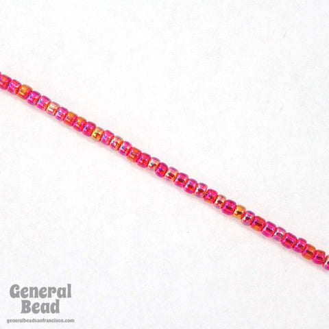 11/0 Transparent Ruby AB Japanese Seed Bead-General Bead