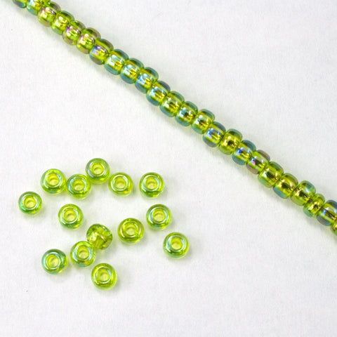 8/0 Transparent Chartreuse AB Seed Bead-General Bead