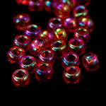 8/0 Transparent Chinese Red AB Seed Bead-General Bead