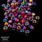 11/0 Silver Lined Ruby AB Japanese Seed Bead-General Bead
