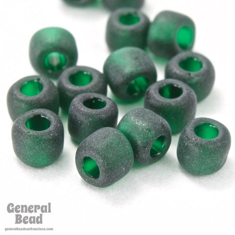 6/0 Matte Transparent Emerald Japanese Seed Bead-General Bead