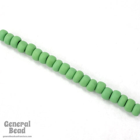 6/0 Matte Opaque Green Japanese Seed Bead-General Bead