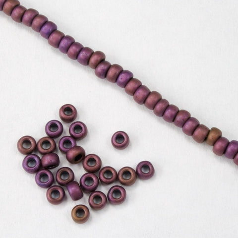8/0 Matte Metallic Mauve Seed Bead-General Bead