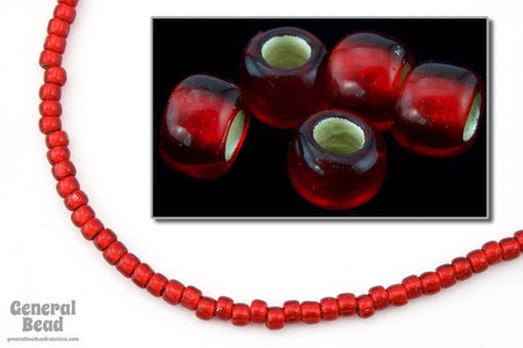 6/0 Semi-Matte Silver Lined Ruby Japanese Seed Bead-General Bead