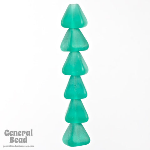 8mm x 10mm Matte Teal Pyramid Bead-General Bead