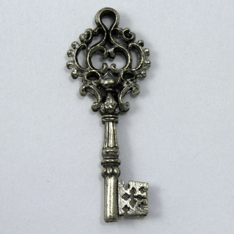 32mm Antique Pewter Ornate Key #KEY014-General Bead