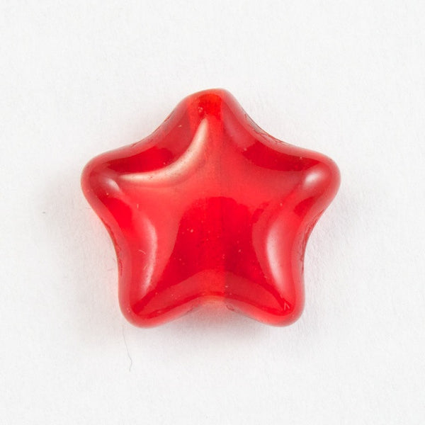 12mm Ruby Star Bead (6 Pcs) #KHF009