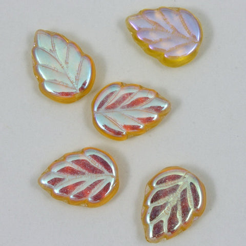 8mm x 10mm Topaz AB Leaf Bead-General Bead